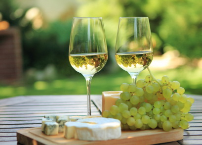 cheese and white wine summer