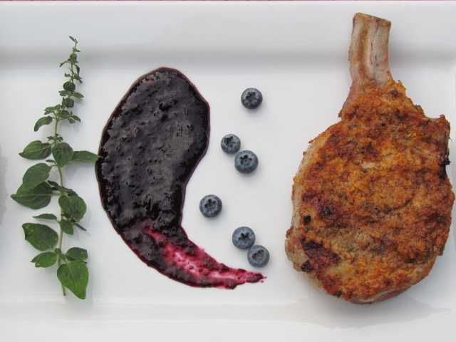 Grilled Giant Pork Chops With Adobo Paste Recipe — Dishmaps