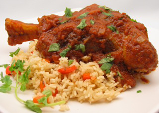 Braised Lamb Shanks Recipe with Indian Spices and Basmati Rice Pilaf ...