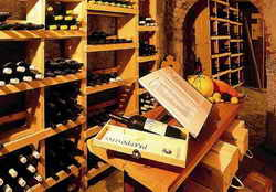 wine list in cellar