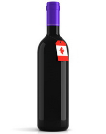 CanadaFlagWineBottle small