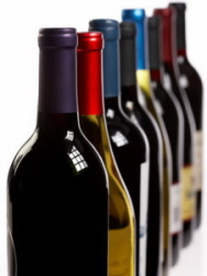 wine bottles multicolor