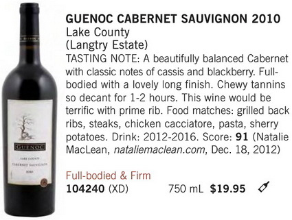 Guenoc Cabernet April 27 5