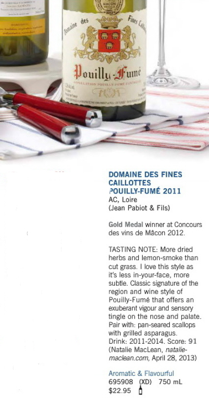 Aug 3 2013 Pouilly Fume