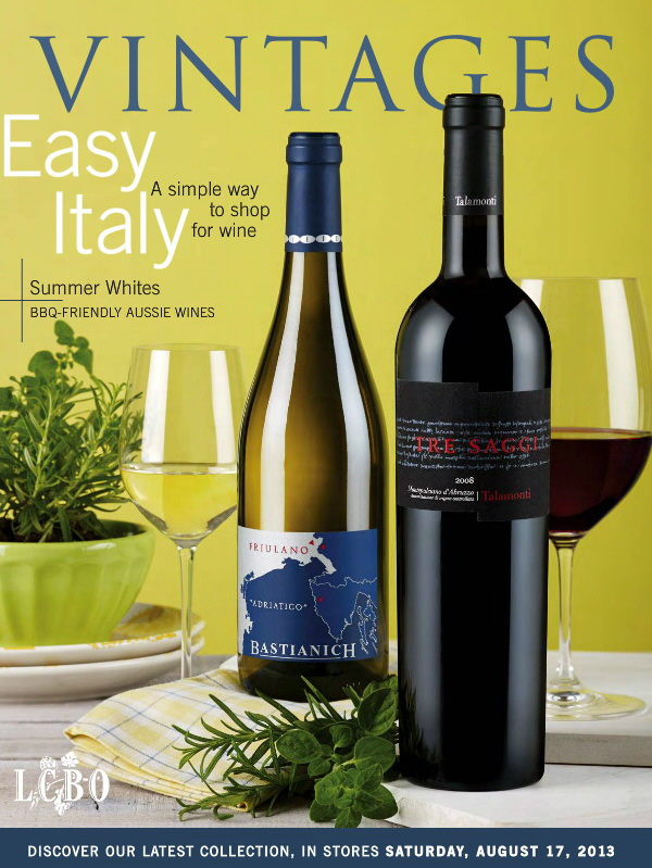August 17 2013 Vintages Catalogue