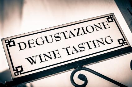 Italian wine tasting sign