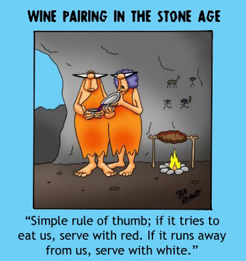 wine pairing in the stone age