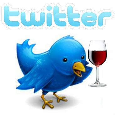 Twitter bird wine