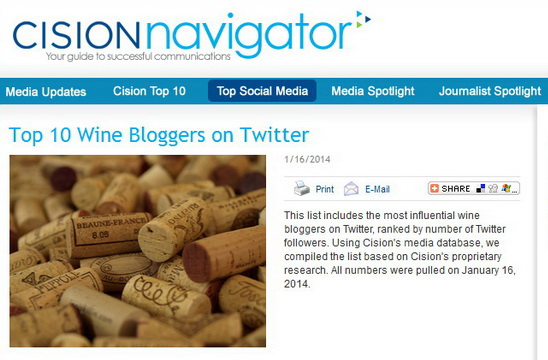 Cision wine twitter B