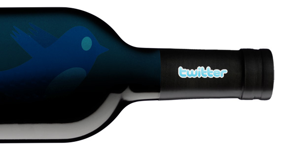Twitter wine bottle
