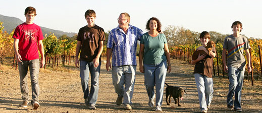 Lasseter family walking