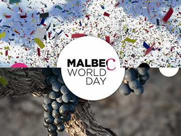 Malbec Day logo and vine