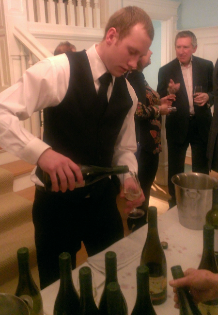 Matt Fowles no. 5 serving wine