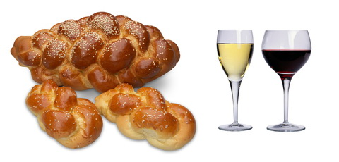 kosher wine challah bread