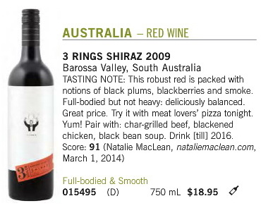 3 Rings Shiraz B