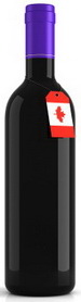 CanadaFlagWineBottle small slim