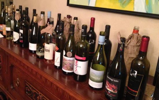 bloggers tasting bottles