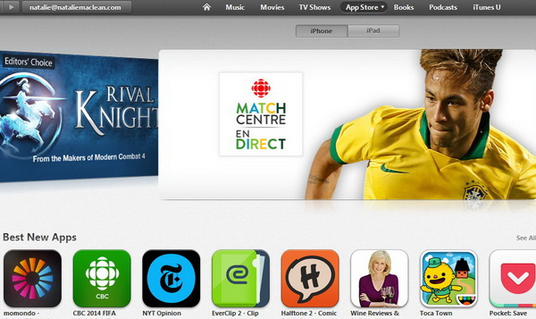 iTunes storefront 2014