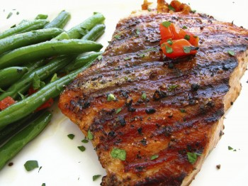 salmongrilledbeans