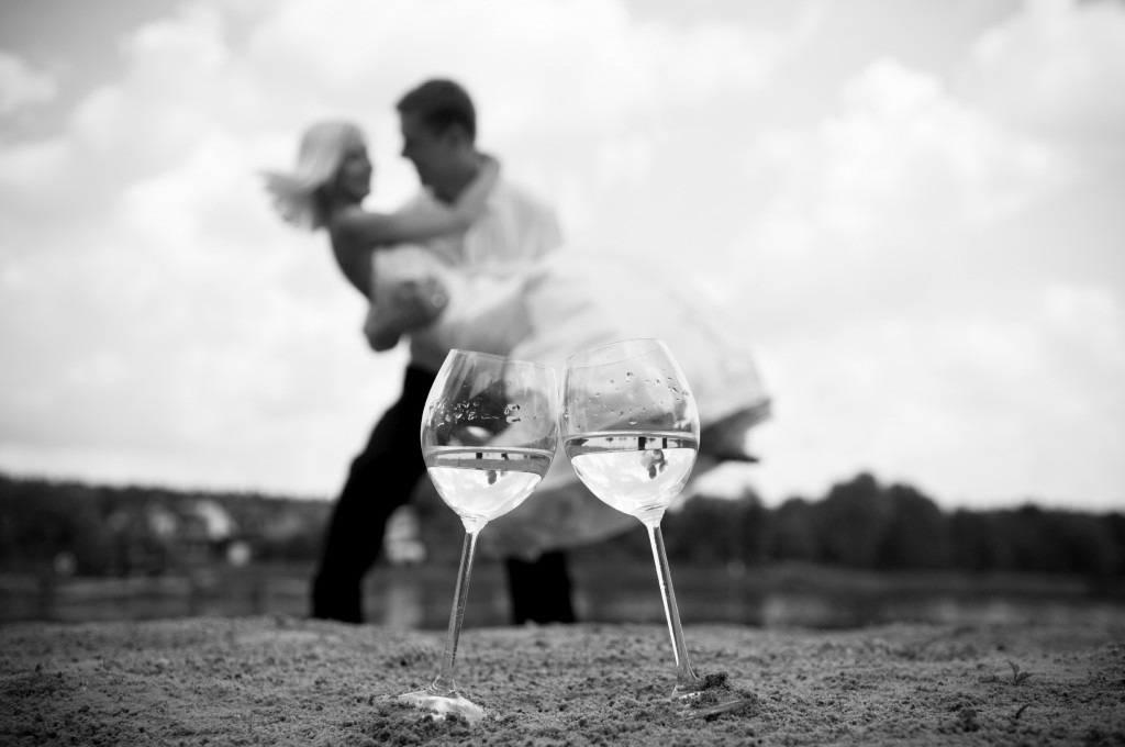wedding wine couple