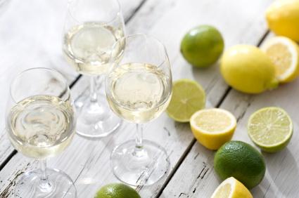 white wine lemons limes