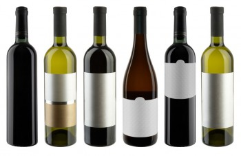 wine bottles white labels