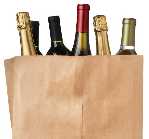 paper bag wine small