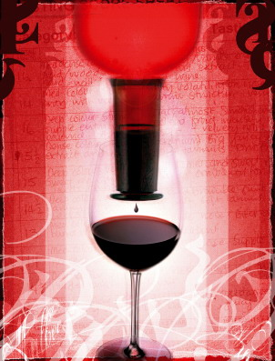 red wine design fusion