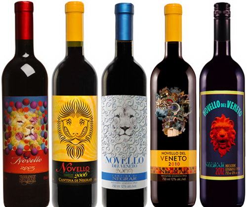 wine label art NovelloSeries