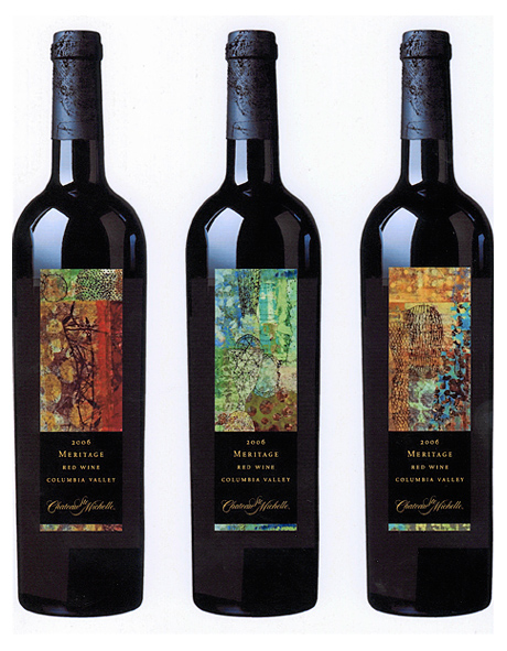 wine label art chateau st michelle