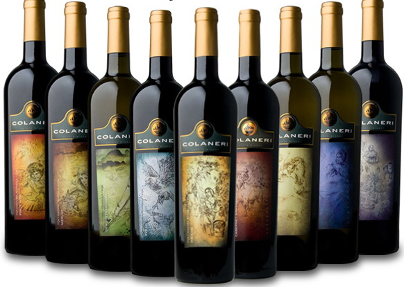 wine label art colaneri