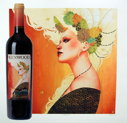 wine label art kenwood