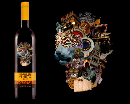 wine label art novello