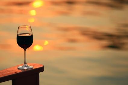 deck chair wine water
