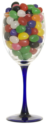 jelly beans wine glass small