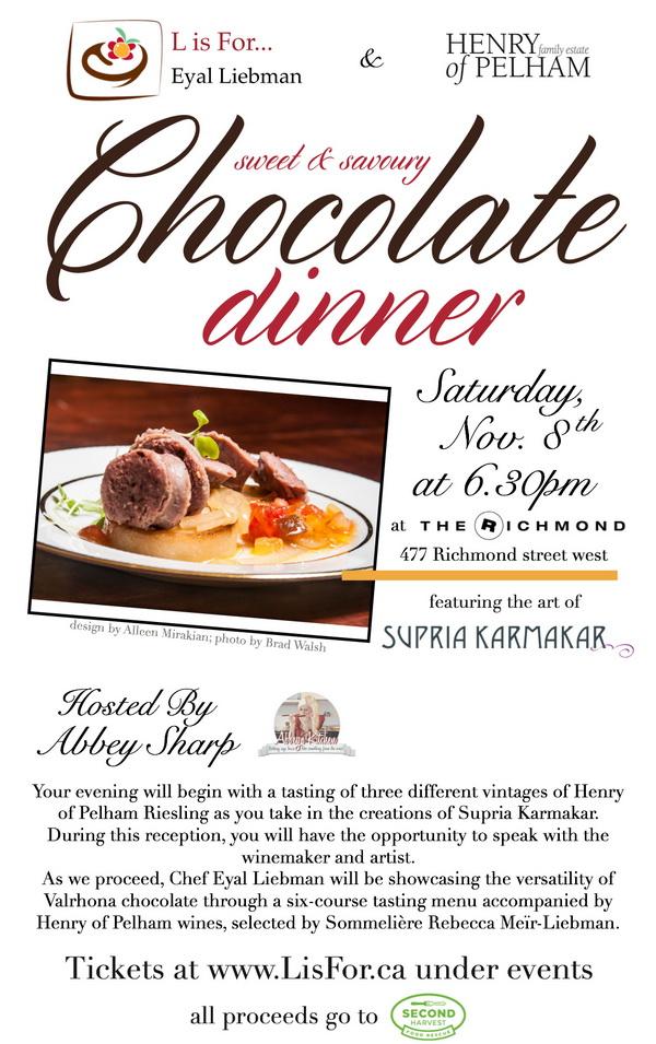 Chocolate Dinner Notice