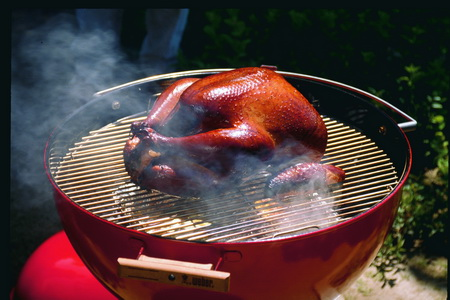 Maple-Brined, Wood-Smoked Grilled Turkey