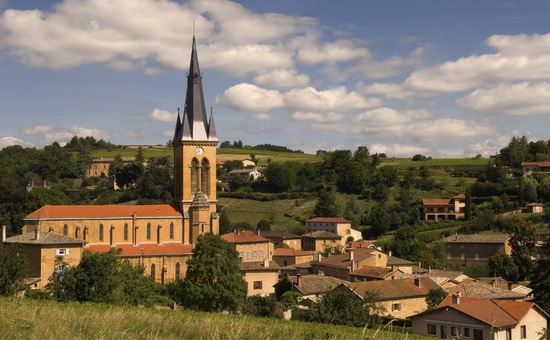 A village in Beaujolais, France