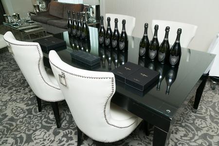 Dom Perignon Wine Tasting white chairs