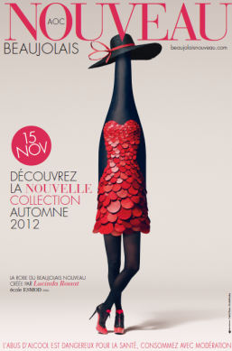 The Official Beajolais Nouveau Poster for 2012