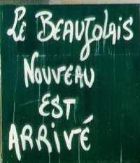 beaujolais nouveau arrive