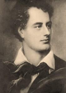 George Byron (1786 - 1824), 6th Baron Byron, British poet. Vintage postcard.
