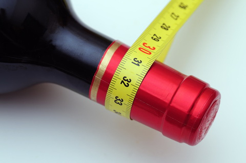 diet wine measuring tape