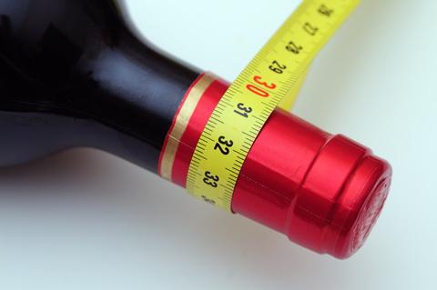 diet wine measuring tape