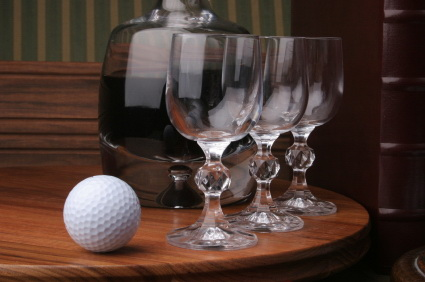 golf wine