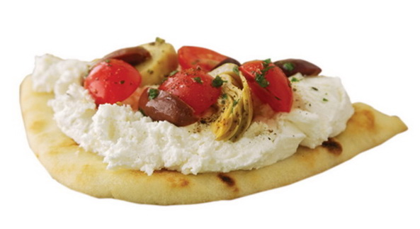 Feta, Tomato and Artichoke Pita