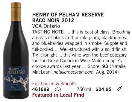 Henry of Pelham Baco Noir