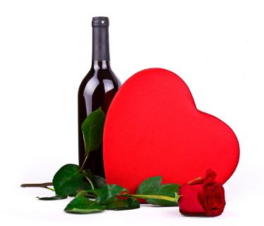 chocolate and wine valentines