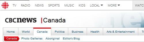 CBC News header