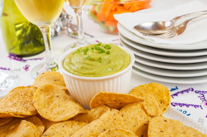 Guacamole with Corn Chips Celebration
